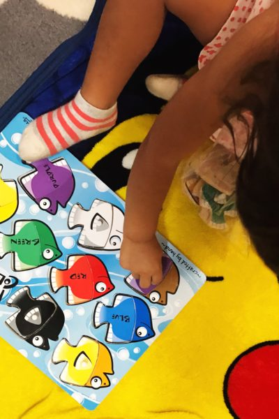 Reads and Things Sunday - our favorite melissa and doug puzzle at the moment - a fish puzzle. @addisonreads