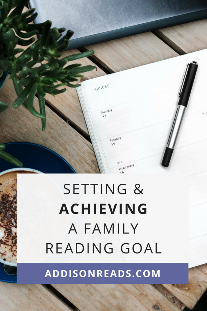 Learn how and why to set a reading goal with your family this year to motivate your children to read more quality books and work together towards a common purpose. @addisonreadsdiyjustcuz | Reading goal setting | Reading goal for kids | Kindergarten reading goal | Reading goal bulletin board | Reading log for kids | Reading goal tracking | 2018 Goals