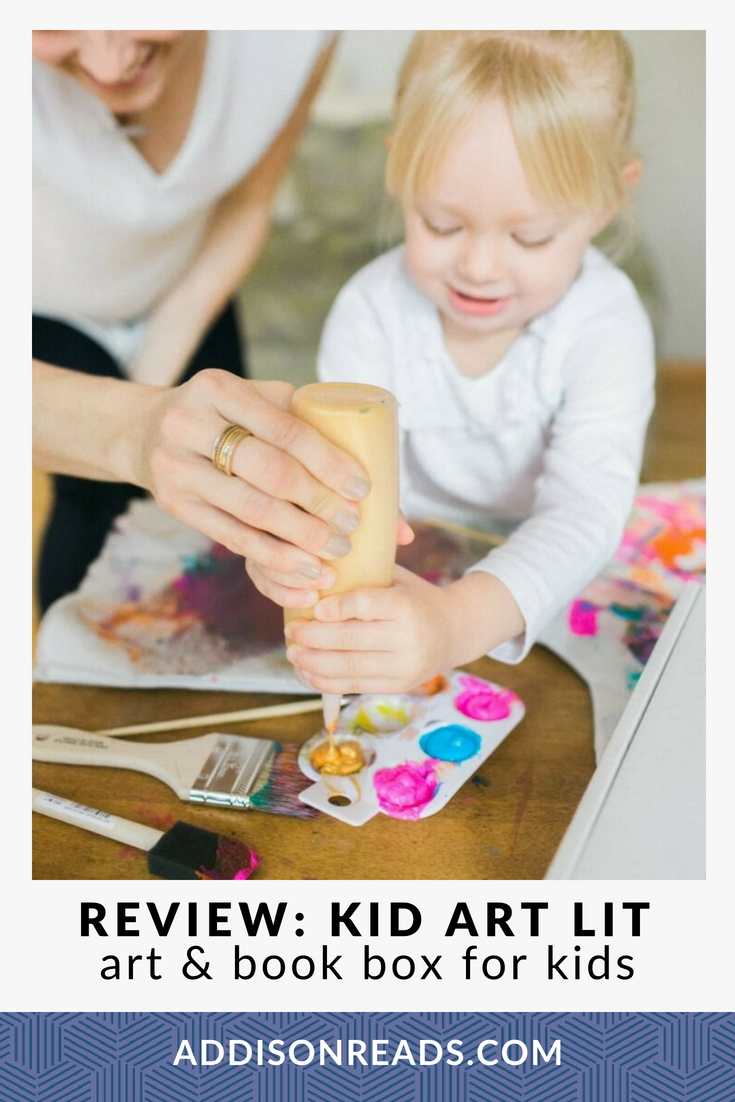 Kid Art Lit is a subscription box for kids that pairs a high quality children's book with an in-depth art project (including all the materials)!