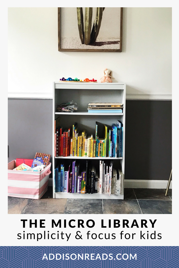 The Micro Library is a small, focused subset of the kids lit from your intentional bookshelf that is applicable to THIS SEASON for your family.
